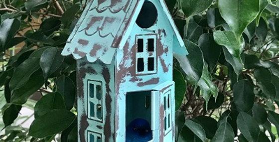 Clock Tower Bird House-Pistachio