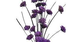 41036 24 Stem Ting Zinnia Flower Branches - Lavender