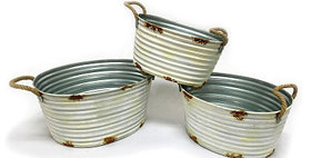 10408 Set of 3 Oval Harvest Buckets-sc