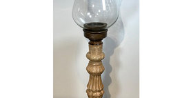 60083 Medium Hurricane Candle Stand with Globe