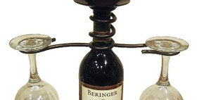 81075 Wine Bottle Two Stem Candle Holder-Meteor-21075