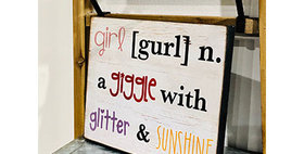 33030 Definition of Girl Wall Plaque