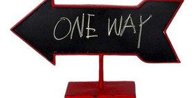 20009 Arrow Table Chalkboard Red