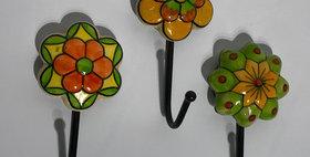 79008 Set of 3 Fiesta Flower Hooks
