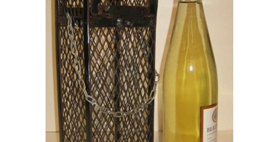 Mesh Single Bottle Wine Dome-Natural-26642