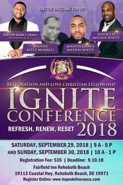 RLCF Ignite Conference 2018 Flyer