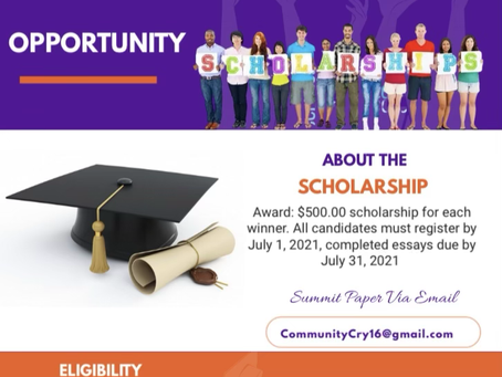 Scholarships for Seniors, we celebrate you with your achievements in such a challenging time.