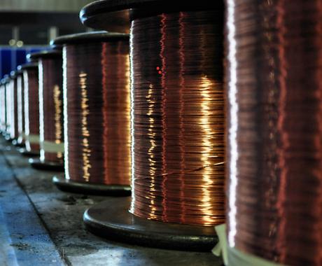 Bare copper ground wire