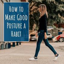 Good posture keeps spine healthy!