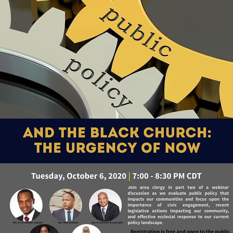 Public Policy and the Black Church: The Urgency of Now | Session 2