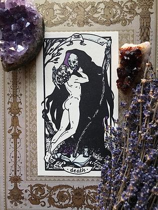 Death Tarot Letterpress Print