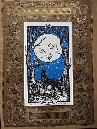 The Moon Letterpress Print