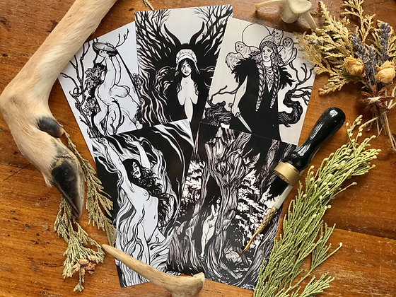 Witches Postcard Set