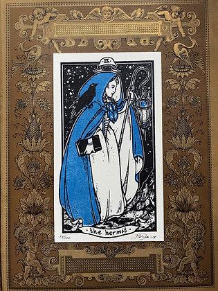 The Hermit Letterpress Print