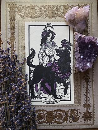 Strength Tarot Letterpress Print