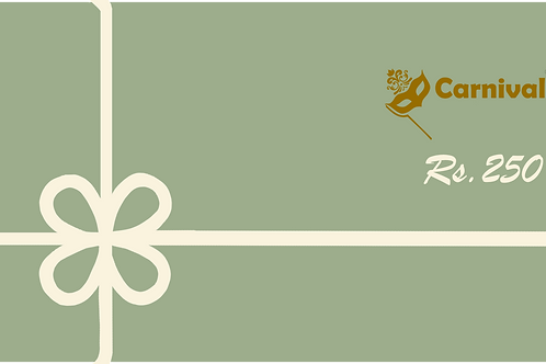 Gift Card: Rs 250