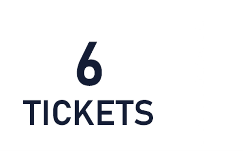 6 tickets de tombola