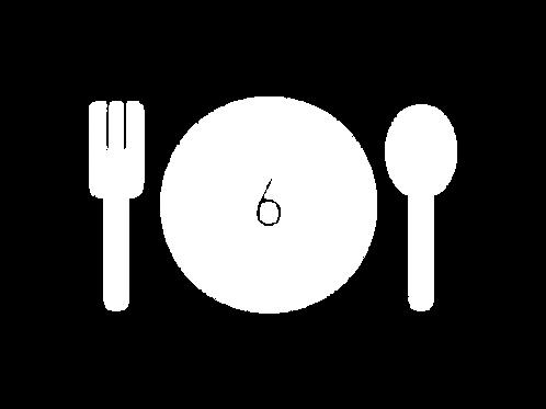 1 table pour le diner de soutien (6 personnes)