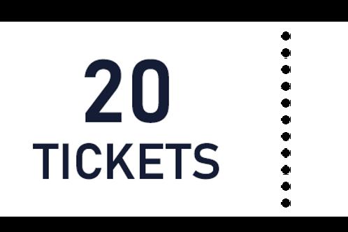 20 tickets de tombola