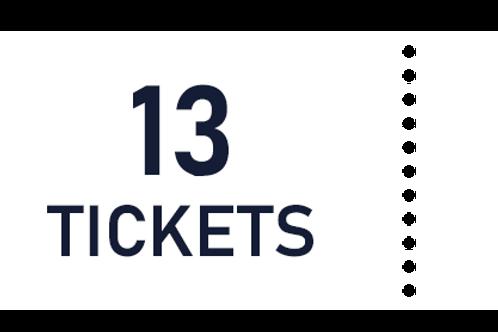 13 tickets de tombola