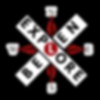EXPLORE BELEN CROSSING SIGN W COMPASS.pn