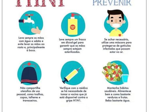 O que é a Gripe H1N1, como prevenir, sintomas, transmissão e grupos de riscos.