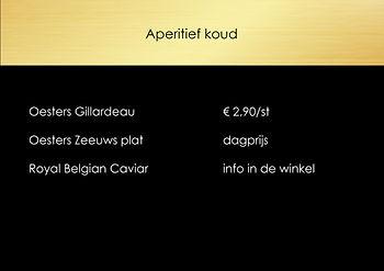 aperitief, apertiefhapjes, oestes