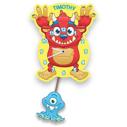 Monster Pendulum Clock for Boy or Girl (PTG)
