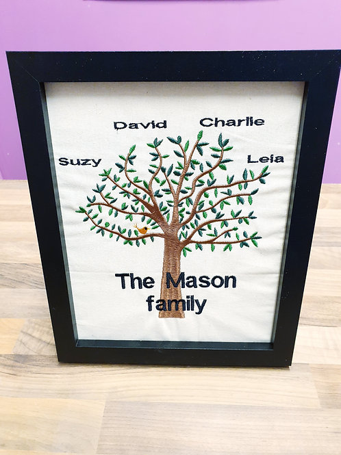 Family tree (Embroidered)