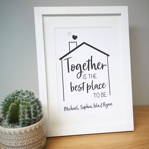 Best Place To Be A4 Framed Print