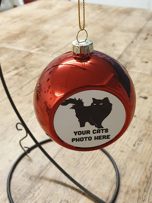 Photo of your cat Christmas bauble