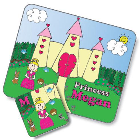 Princess Design Placemat and Coaster Set (PTG)