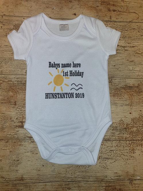 1st Holiday baby onesie