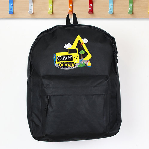 Personalised Digger Black Backpack (PMC)