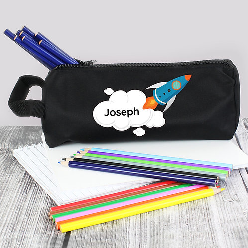 Personalised Rocket Pencil Case (PMC)