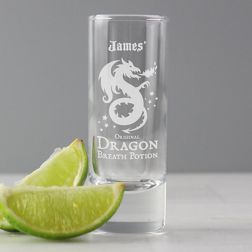 Personalised Dragon Breath Potion Shot Glass (PMC)