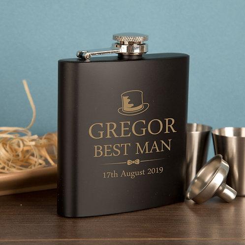 Best Man Hip Flask Gift Set