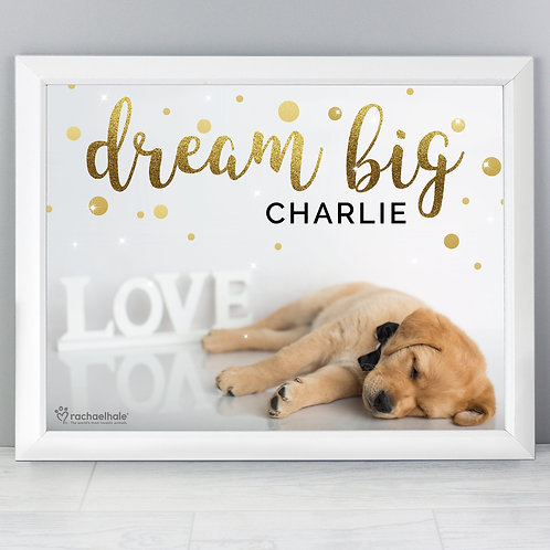 Personalised Rachael Hale Dream Big White Framed Print (PMC)
