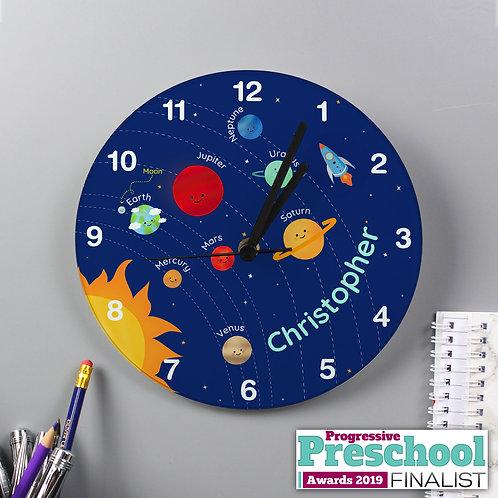Personalised Solar Sytem Glass Clock (PMC)