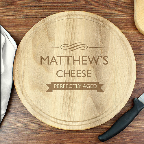 Personalised Perfectly Aged Round Chopping Board (PMC)