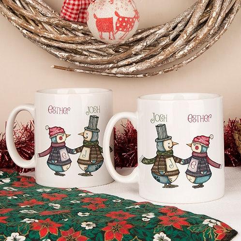 Penguin Mug Set For A Couple