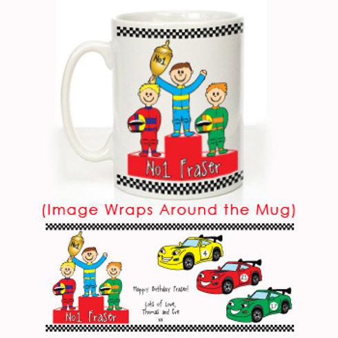 Racing Cars Message Mug