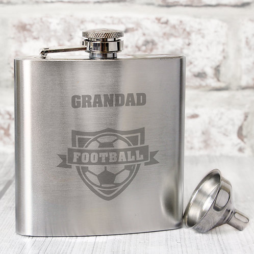 Personalised Football Hip Flask (PMC)