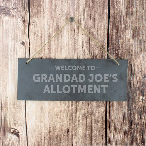 Personalised Welcome To... Hanging Slate Plaque (PMC)
