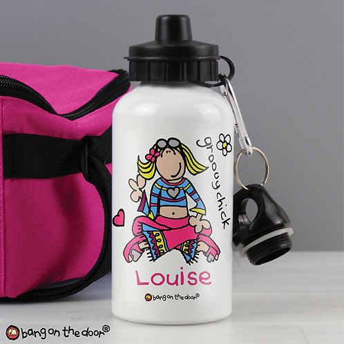 Personalised Bang on the Door Groovy Chick Drinks Bottle (PMC)