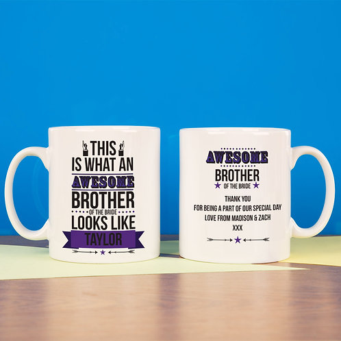 Awesome Brother of the Bride Mug