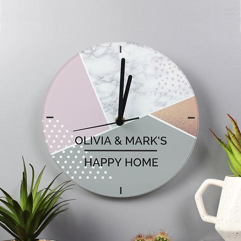 Personalised Geometric Glass Clock (PMC)