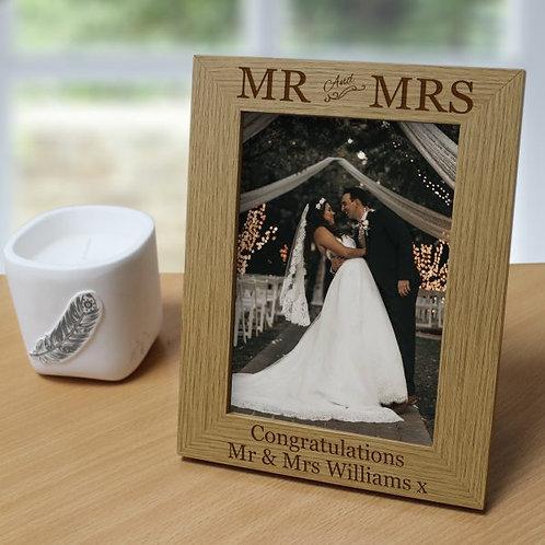 Mr & Mrs 5?x7? Photo Frame