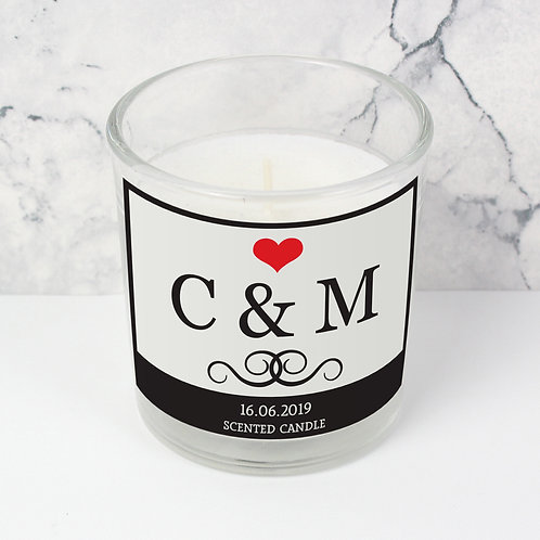 Personalised Monogram Scented Jar Candle (PMC)