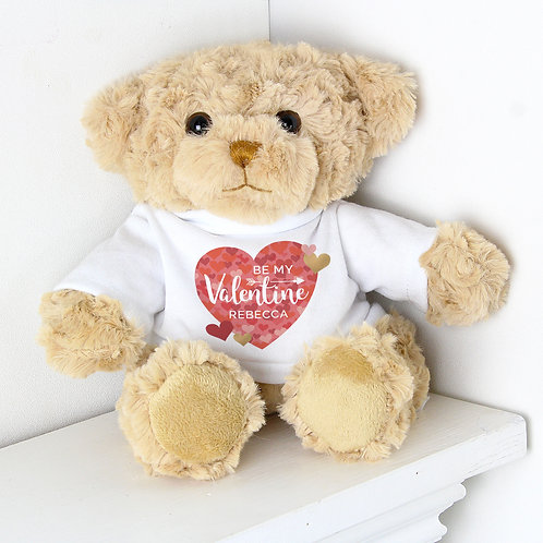 Personalised Valentine's Day Confetti Hearts Teddy Bear (PMC)